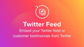 Twitter Feed widget